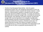 published procedures for discrepancies after logistics reassignment 2001