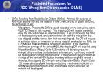 published procedures for rdo wrong item discrepancies dlms