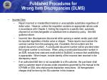 published procedures for wrong item discrepancies dlms