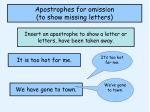 apostrophes for omission to show missing letters