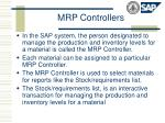 mrp controllers