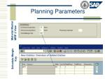 planning parameters1