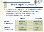 planning vs scheduling1