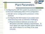 plant parameters