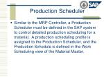 production scheduler