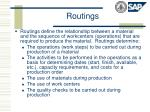 routings