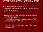 dysregulation of hpa axis