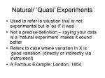 natural quasi experiments