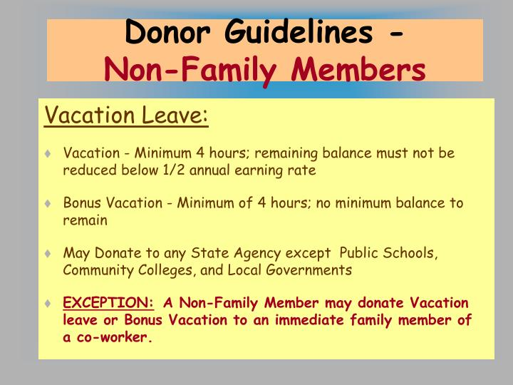 Donor Guidelines -