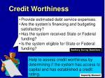 credit worthiness1