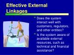 effective external linkages