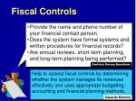 fiscal controls