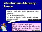infrastructure adequacy source