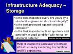 infrastructure adequacy storage