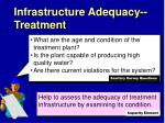 infrastructure adequacy treatment