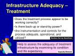 infrastructure adequacy treatment1