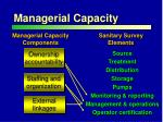 managerial capacity
