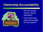 ownership accountability