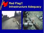 red flag infrastructure adequacy