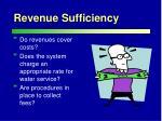 revenue sufficiency