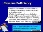 revenue sufficiency1