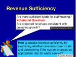 revenue sufficiency3