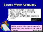 source water adequacy1