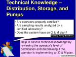 technical knowledge distribution storage and pumps1