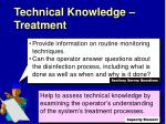 technical knowledge treatment