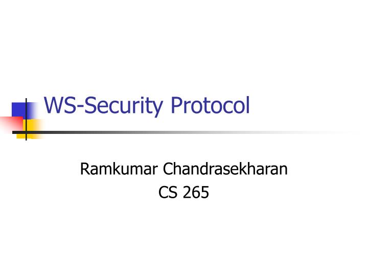 ws security protocol n.