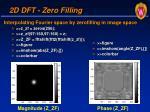 2d dft zero filling