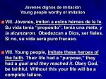 j venes dignos de imitaci n young people worthy of imitation34