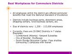 best workplaces for commuters districts