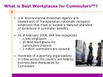 what is best workplaces for commuters sm