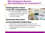 why employers become best workplaces for commuters sm