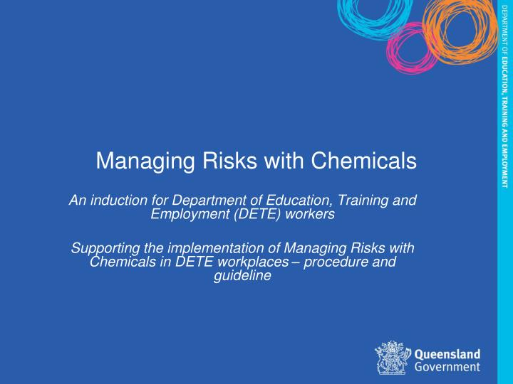 managing risks with chemicals n.