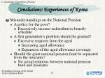 conclusions experiences of korea