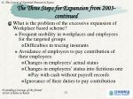 the three steps for expansion from 2003 continued2