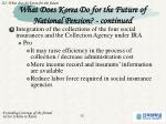 what does korea do for the future of national pension continued1
