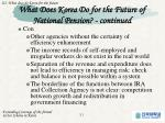 what does korea do for the future of national pension continued2