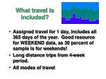what travel is included