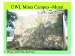 uwi mona campus mural