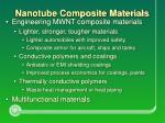 nanotube composite materials