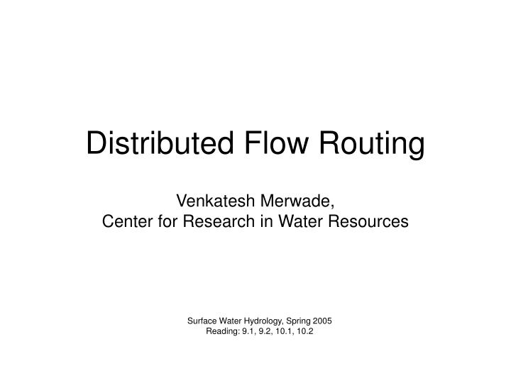 distributed flow routing n.