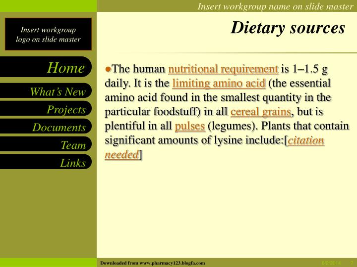 Dietary sources