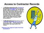 access to contractor records