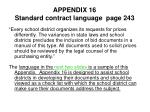 appendix 16 standard contract language page 243