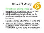 basics of money