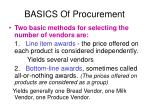 basics of procurement