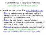 farm bill change to geographic preference federal law takes precedent over state law